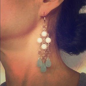 Jewelry - Chandelier aquamarine gemstone earrings